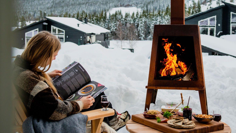En utepeis fra Espegard gir bålkos og varme året rundt.