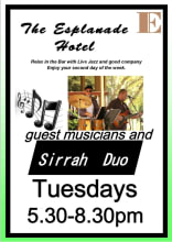 Events The Esplanade Hotel Sirrah Duo Tuesdays