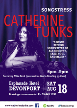 Events The Esplanade Hotel Songstress Catherine Tunks