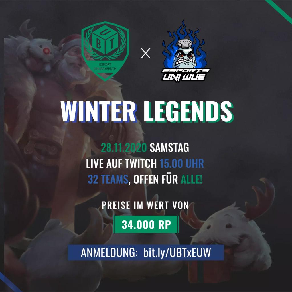 Winter Legends League of Legends Turnier Werbung vom 28.11.2020