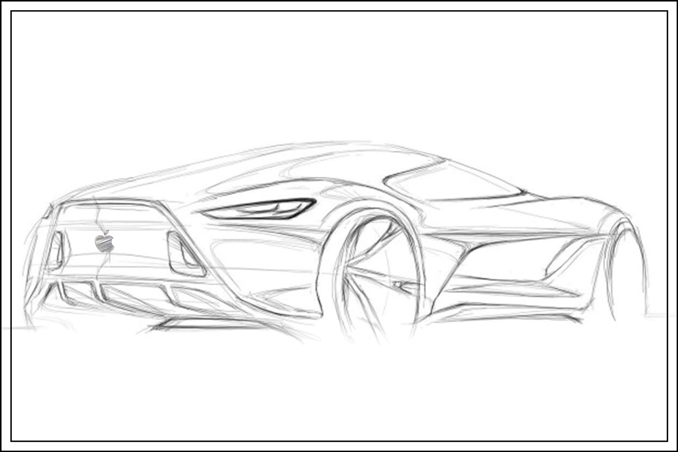rechargeable-apple-car-design-sketech