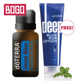 Buy doTERRA Deep Blue and get doTERRA Deep Blue Rub Lotion for free