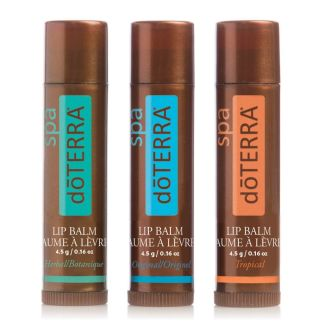 doTERRA Lip Balm Herbal, Original, Tropical 3 pack