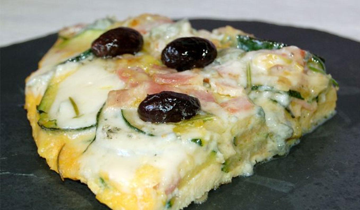 Frittata de calabacín y queso azul