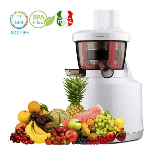 estrattore di succo slow juicer. family spremitura a freddo frutta e verdura
