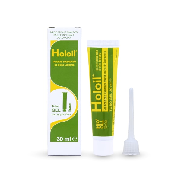 medicazione vegetale holoil tubo gel 30 ml piccole ferite ragadi lacerazioni intime