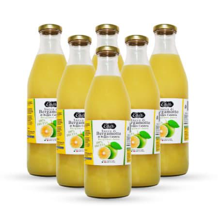 succo di bergamotto 6 bottiglie da 1 litro antiossidante italiano ricco di polifenoli e vitamine