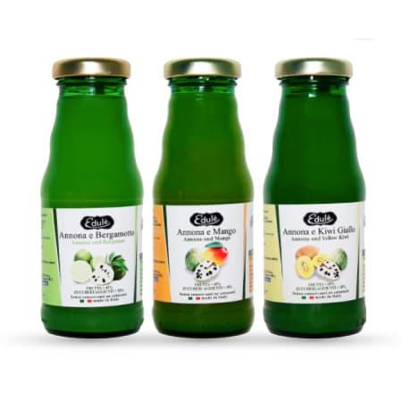 succo di annona bergamotto mango kiwi giallo nettare pack 12 bottiglie da 200 ml