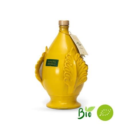 olio extravergine di oliva biologico 100% cellina di nardò pomo ocra 1 litro alta qualità ricco di polifenoli