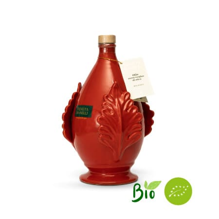 olio extravergine di oliva biologico 100% cellina di nardò pomo rossa 1 litro alta qualità ricco di polifenoli