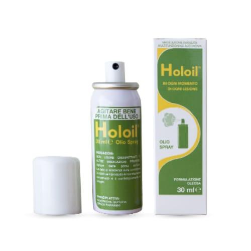 olio spray medicazione lesioni ferite piaghe holoil 30 ml