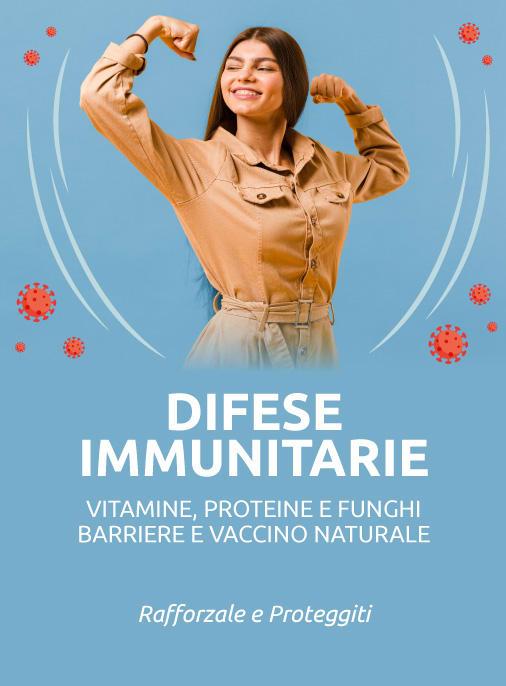 difese immunitarie rafforza sistema immunitario vitamine proteine funghi vaccino naturale barriera olio