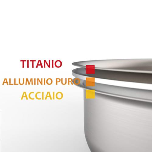 padelle tritania padella titanio cottura atossica triplo strato