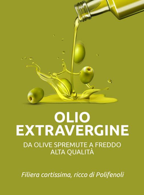 Olio extravergine di oliva alta qualita spremitura a freddo filiera corta ricco di polifenoli