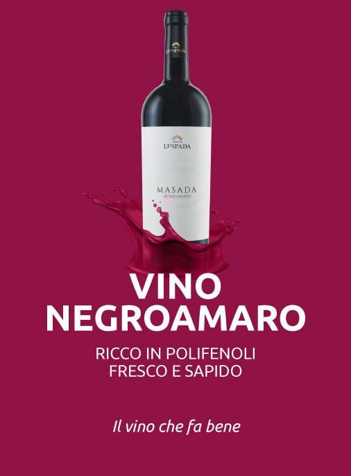 vino negroamaro ricco in polifenoli fa bene alla salute
