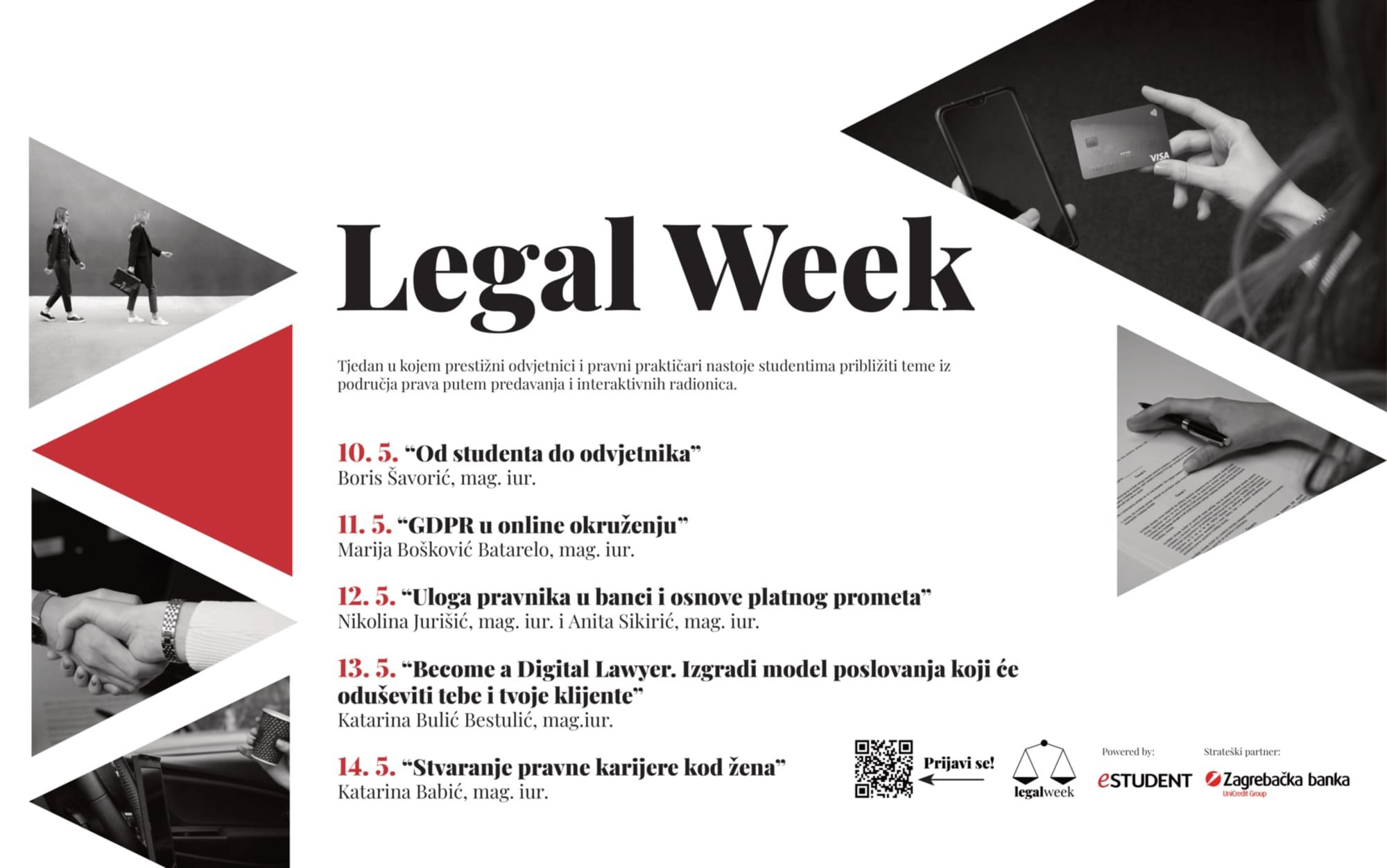 Otvorene prijave za Legal Week: upoznajte se s aktualnim temama iz svijeta prava