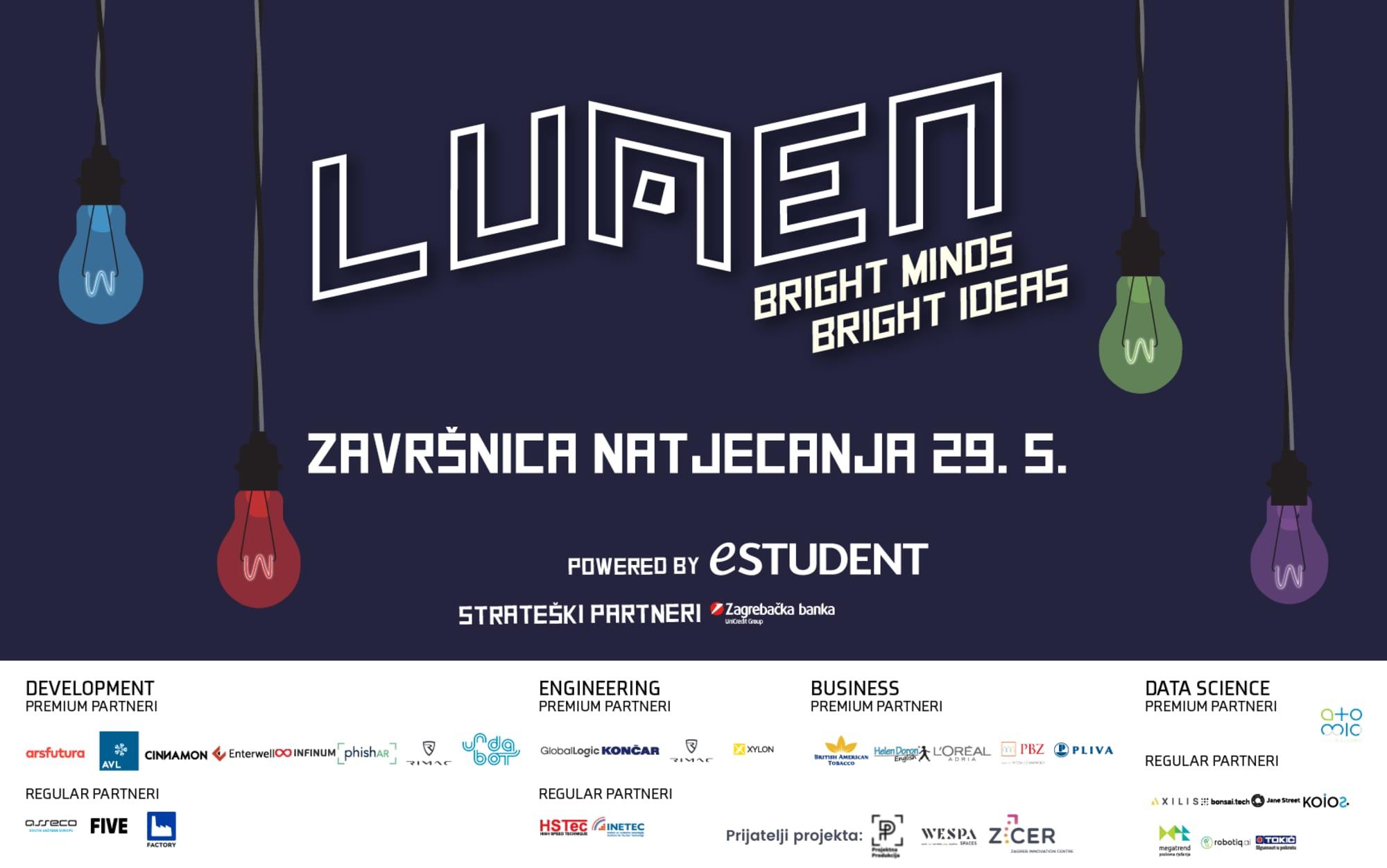 Bliži se završnica LUMENa –  najvećeg studentskog natjecanja