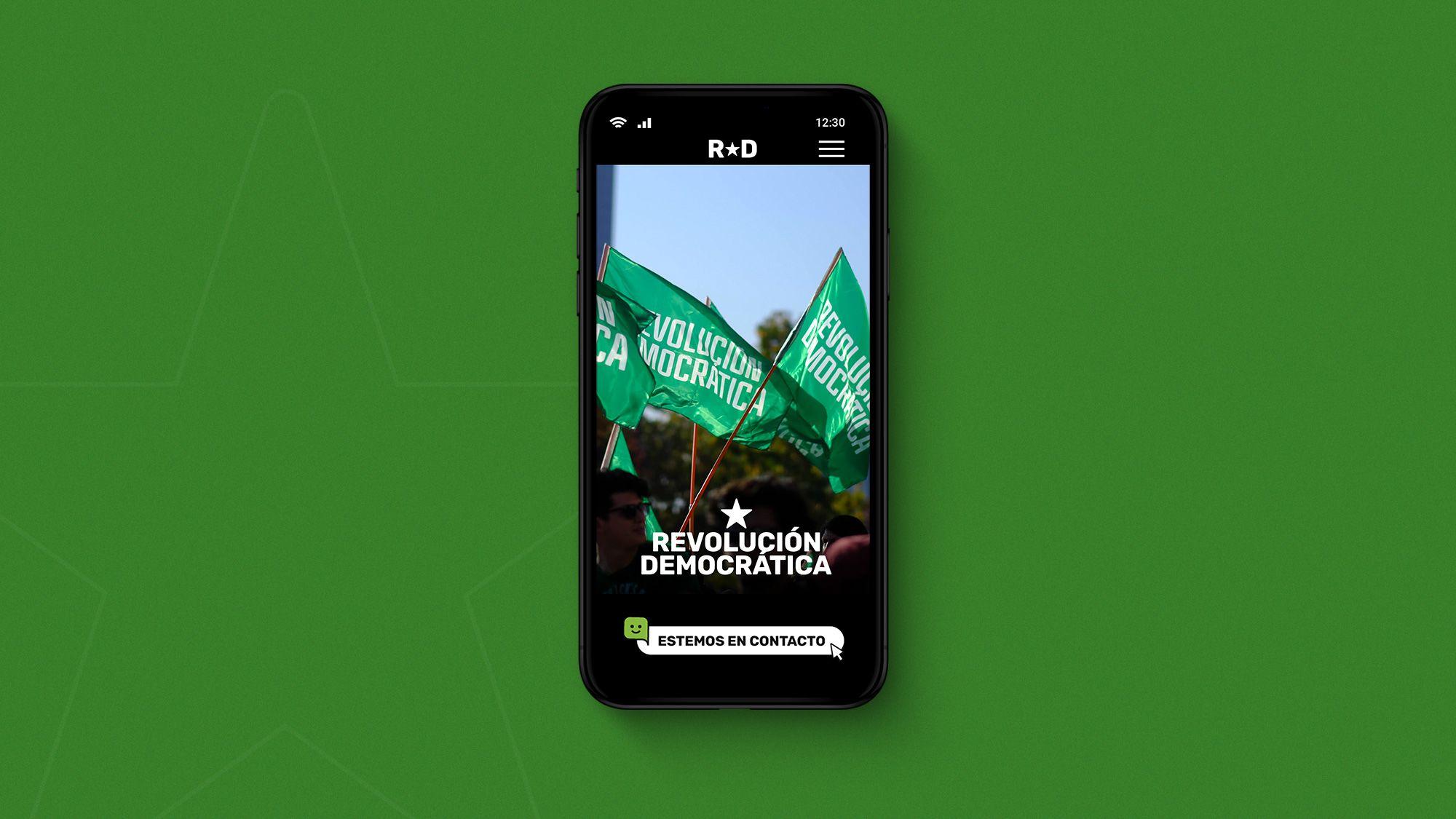Web Revolución Democrática