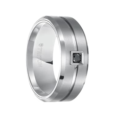 Triton Mens Tungsten 9mm Brushed Comfort Fit Band