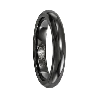 Edward Mirell Ring 4mm Black Titanium Dome Band