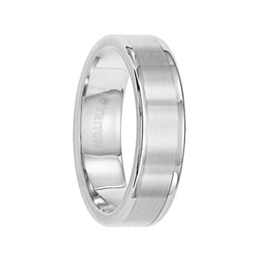 Triton Ring 6mm Tungsten Carbide Satin Finish Flat Center with Bright Polish Round Edges Comfort Fit Wedding Band