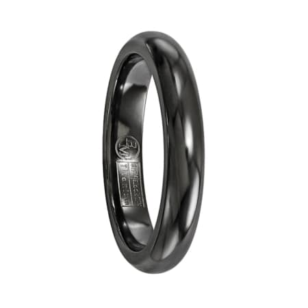 Edward Mirell Ring 4mm Black Titanium Dome Band