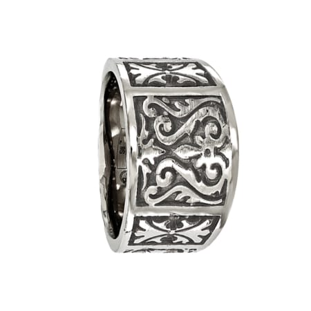 Edward Mirell Ring 14mm Polished Titanium Ring with a Casted Design