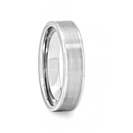 Mens Tungsten Carbide Ring Polished Edges Satin Center