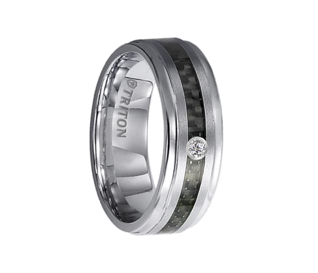 Triton Ring 7mm Tungsten Carbide Bevel Edge Comfort Fit