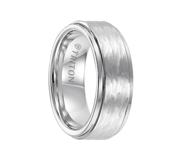 Triton Ring 8mm Cobalt Step Edge Comfort Fit Band With