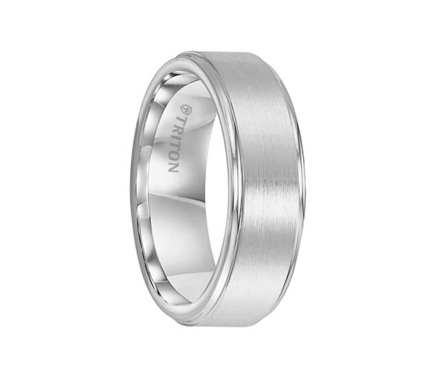Triton Ring 7 5mm Cobalt Brush Finish Center Bright