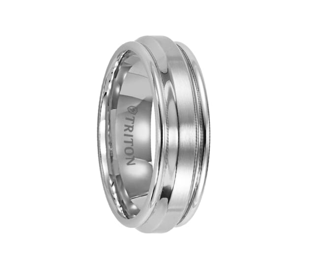 Triton Ring 7mm Flat With Bevel Center And Round Rims
