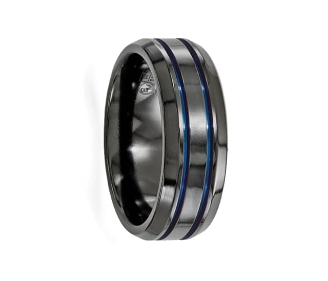 Edward Mirell Ring 8mm Anodized Black Titanium Band