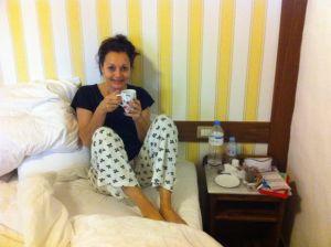 Jane After Restless Night in Icod Tenerife