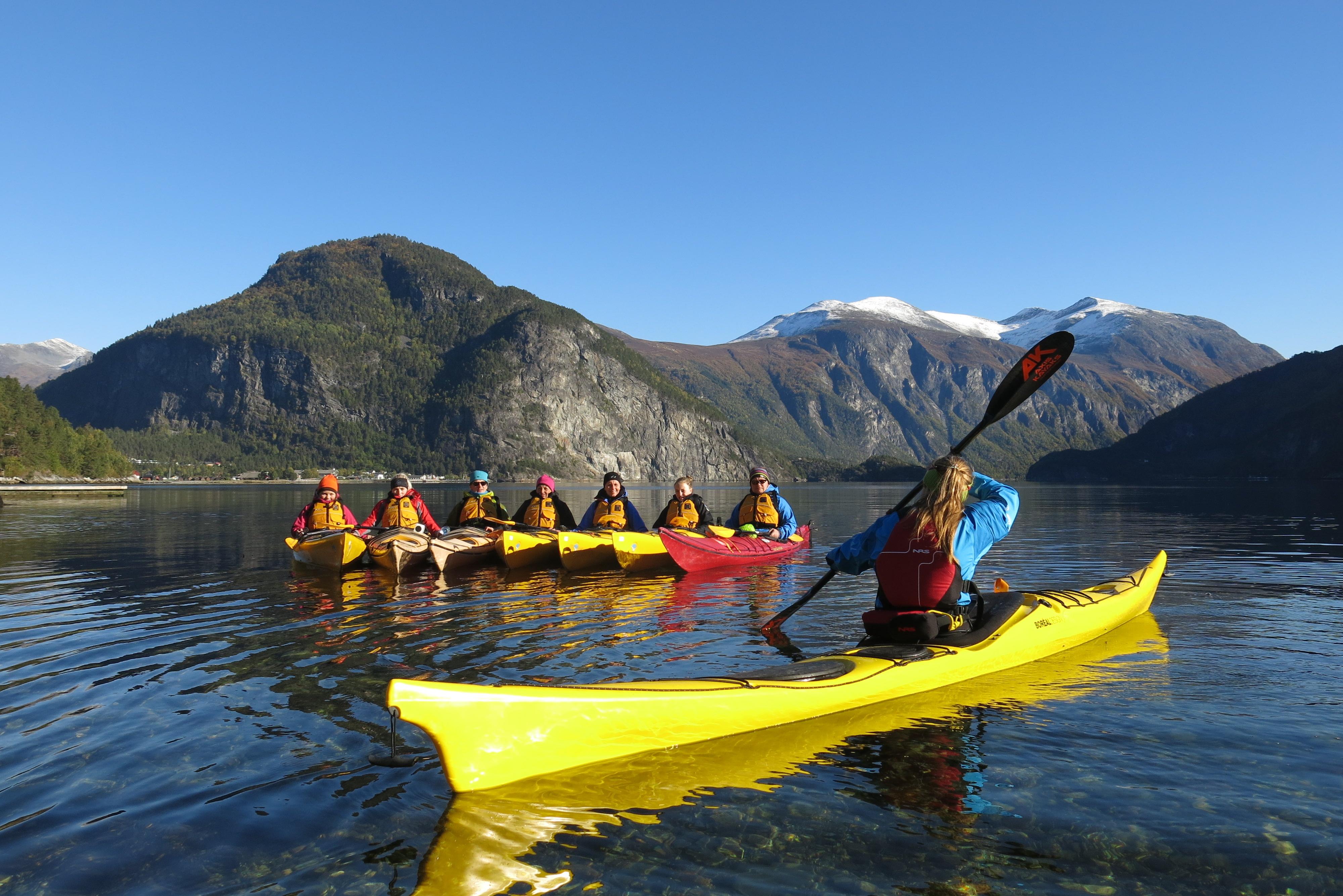 Kayak i Tafjorden