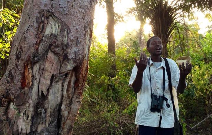 Lamin Bojang explains the natural and cultural heritage