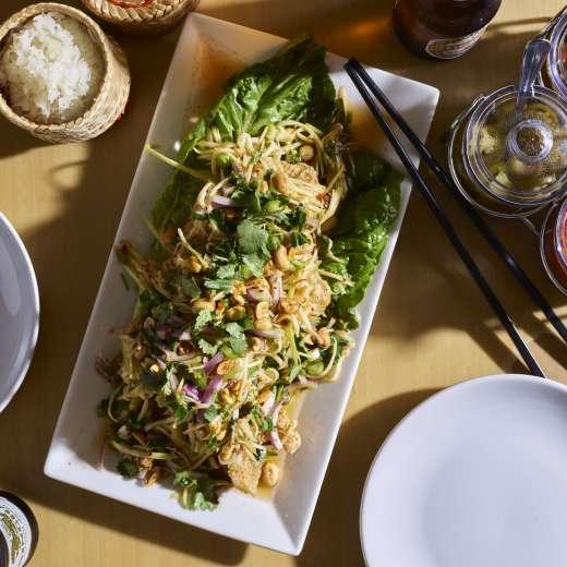 Crispy Flounder with Mango Salad
