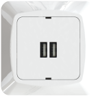 USB LADER/UTTAK 5V/3,4A 2-VEIS