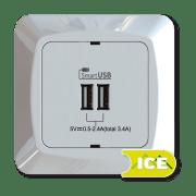USB LADER INNF 5V/3,4A 2 UTTAK