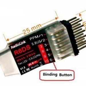 RCPlanet osta Radiolink R6DS 2.4G 6CH PPM PWM SBS Vastuvõtja FPV pood