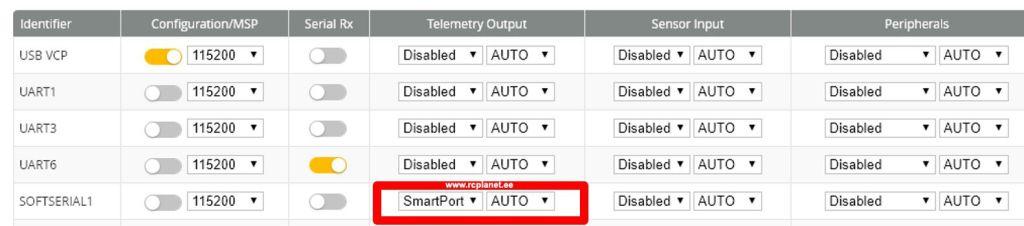 RCPlanet SoftSerial SmartPort