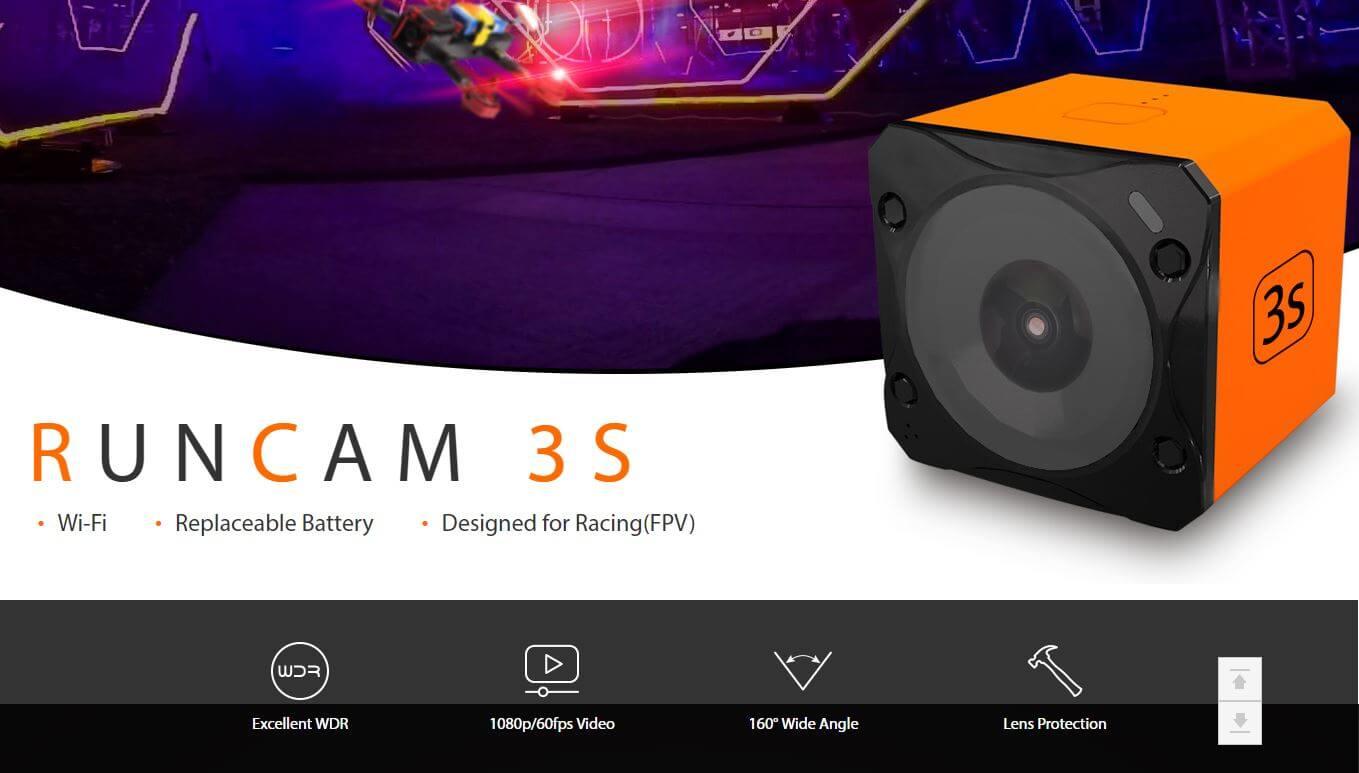 RCPlanet osta Runcam 3S WiFi 1080P 60FPS WDR FPV Seikluskaamera FPV pood Eestis