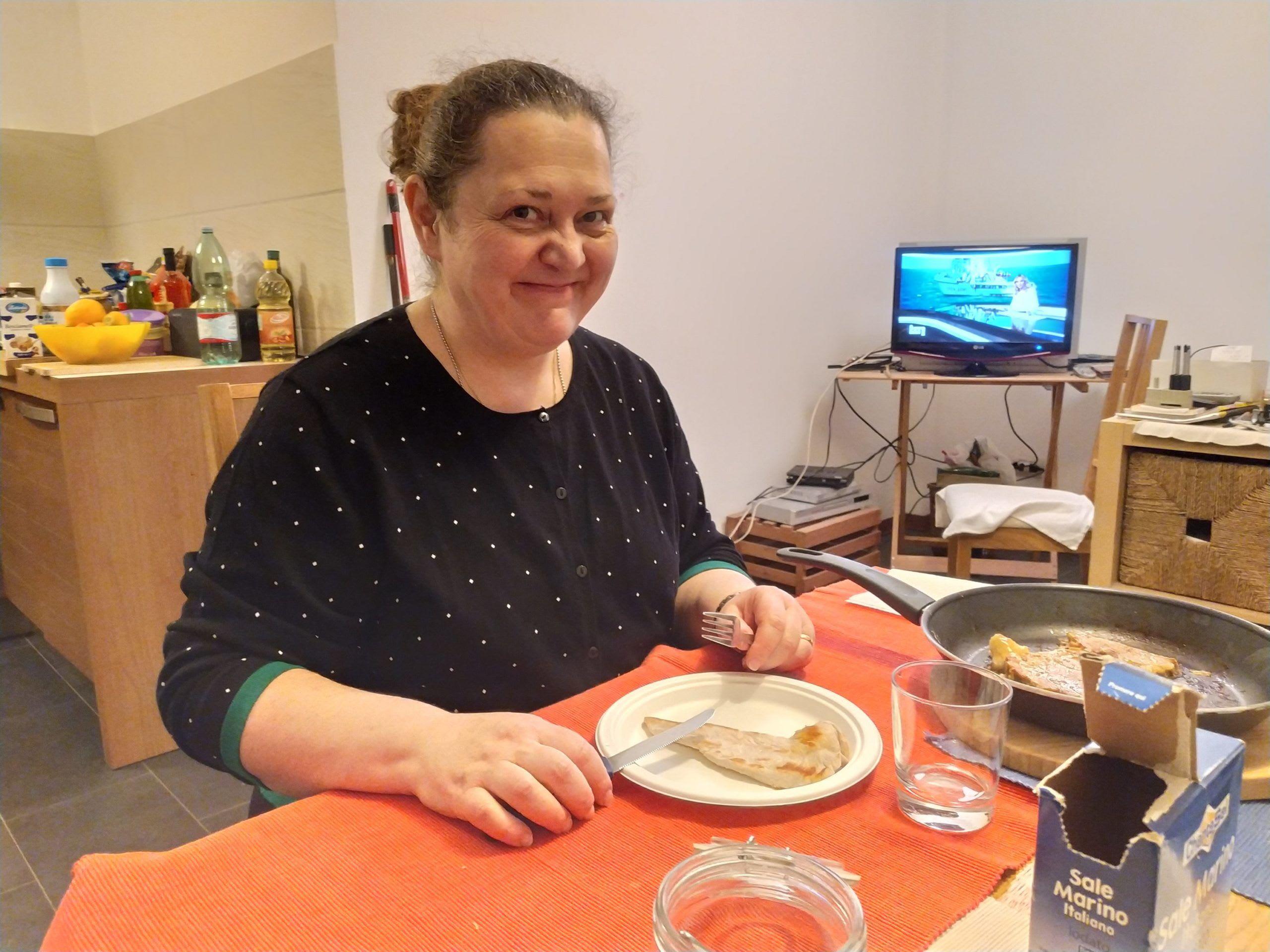 Giuseppina a cena a casa Roma