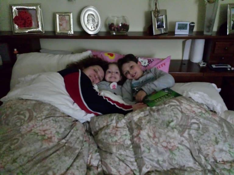 Eugenio, Francesca e Giuseppina nel lettone