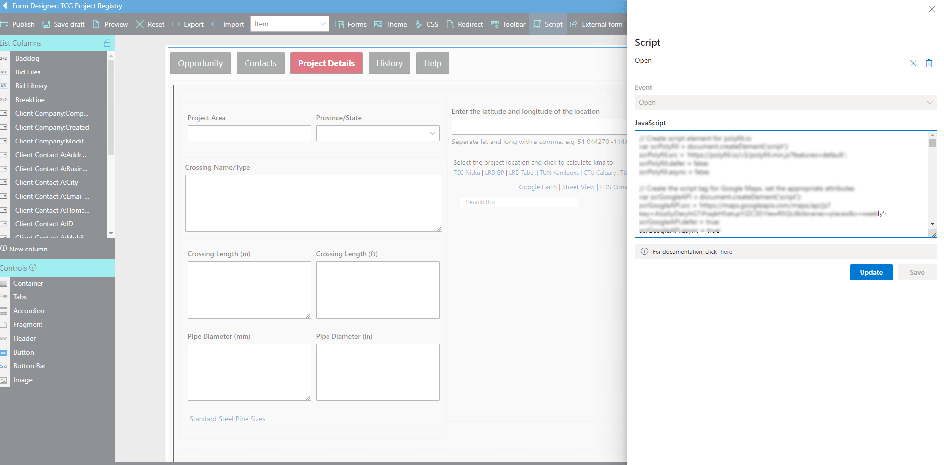 Extending Form with JavaScript