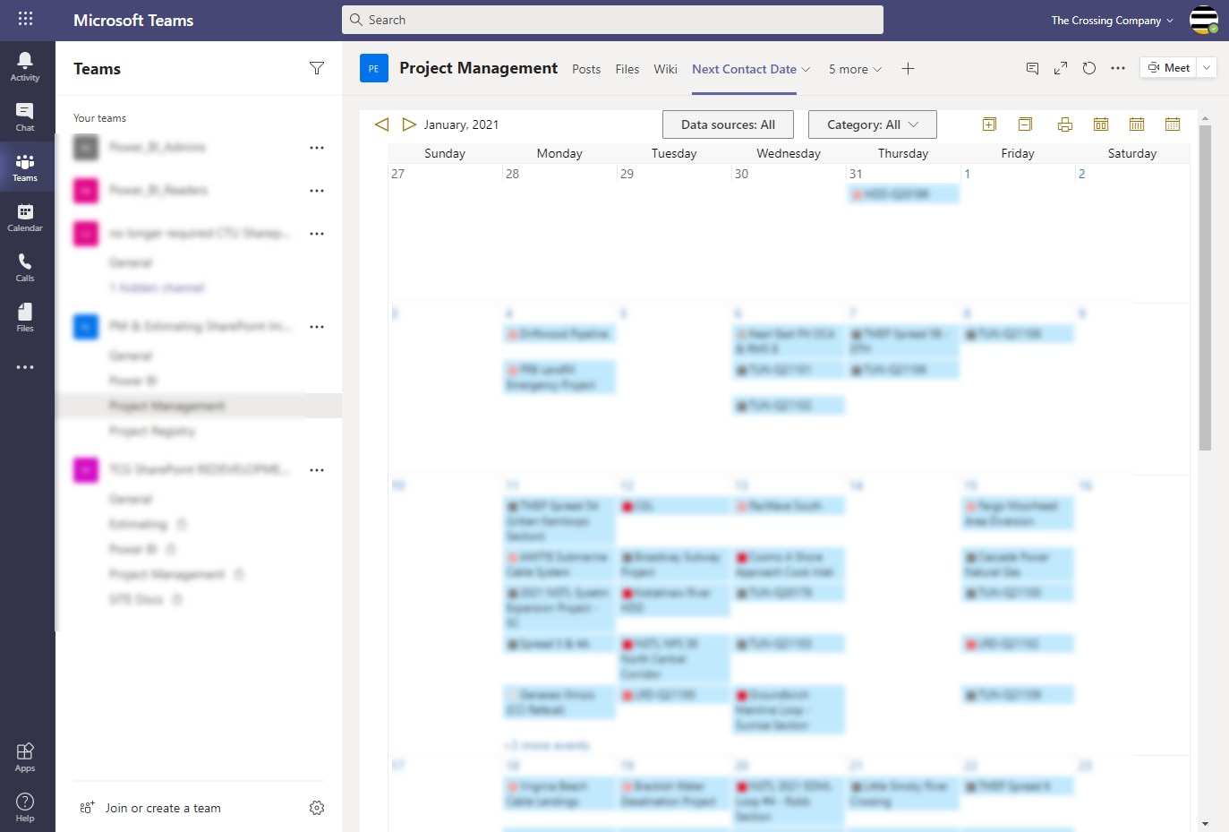 Microsoft Teams Calendar App