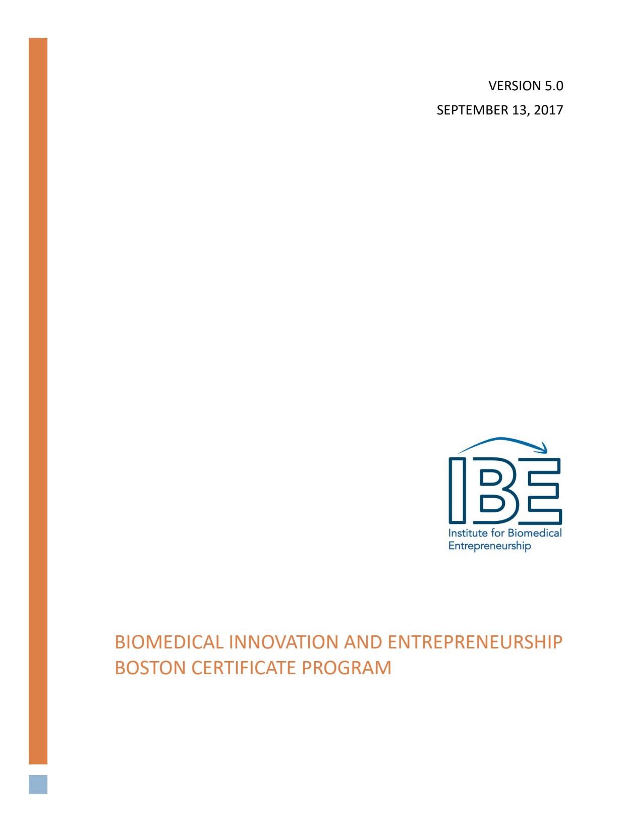 Ibe Boston Course Information