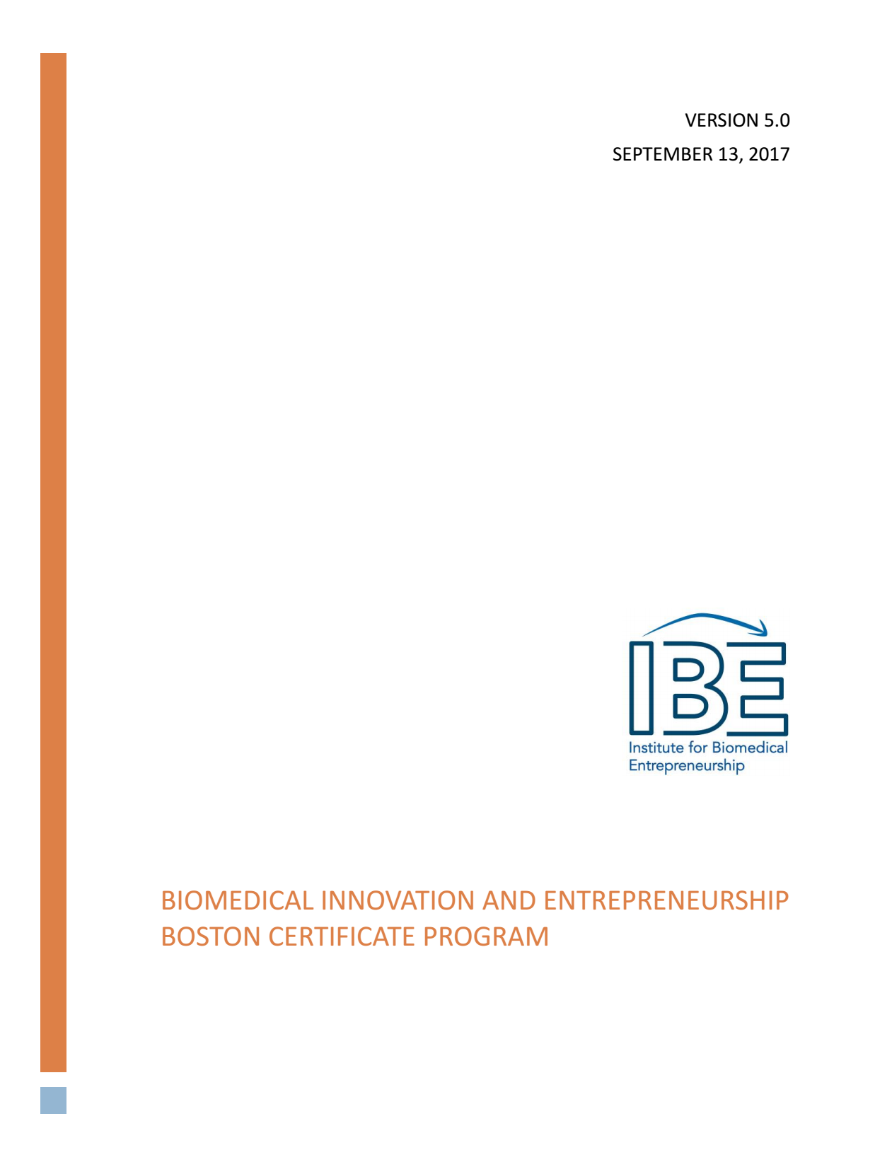 Ibe Boston Course Information