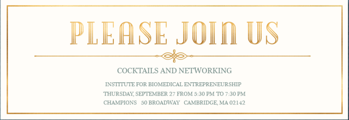 IBE Networking and Cocktail Hour