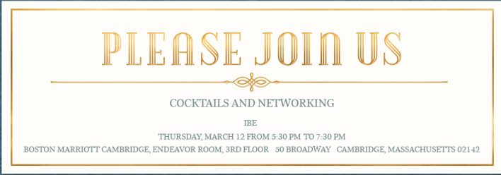 Cocktails and Networking